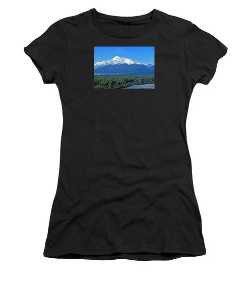 Denali, Aka Mt. Mckinley  Women's T-Shirt (Athletic Fit)