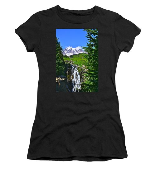 Mt. Rainier From Myrtle Falls Women's T-Shirt