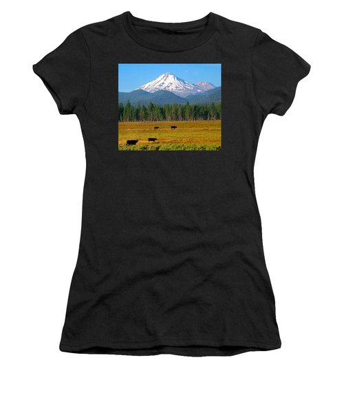 Mt. Shasta Morning Women's T-Shirt (Athletic Fit)