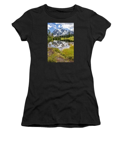 Mt Shuksan On Picture Lake 2 Women's T-Shirt (Athletic Fit)