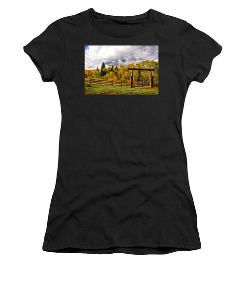 Mt Sopris Under The Clouds Women's T-Shirt (Athletic Fit)