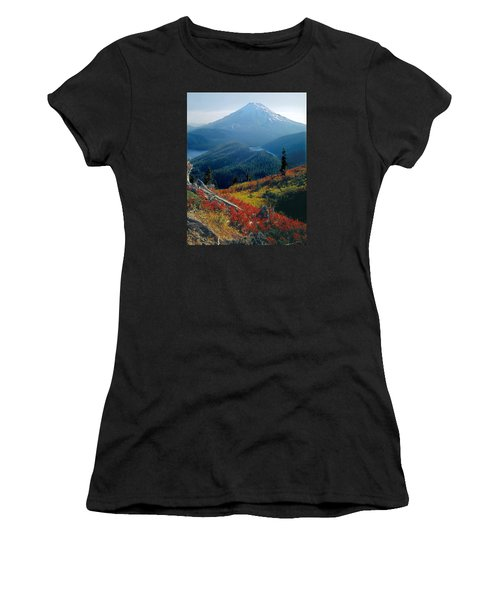 1m4903-mt. St. Helens 1975  Women's T-Shirt (Athletic Fit)