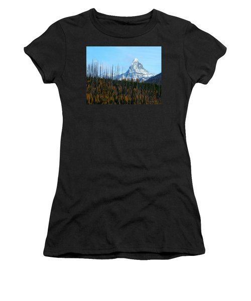 Mt St Nicolas After The Fire Women's T-Shirt (Athletic Fit)