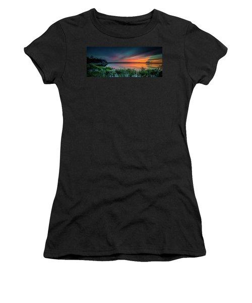 Mud Bay Sunset 4 Women's T-Shirt