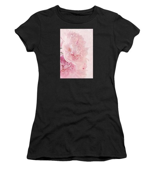 Artsy Pink Peonies Women's T-Shirt (Athletic Fit)
