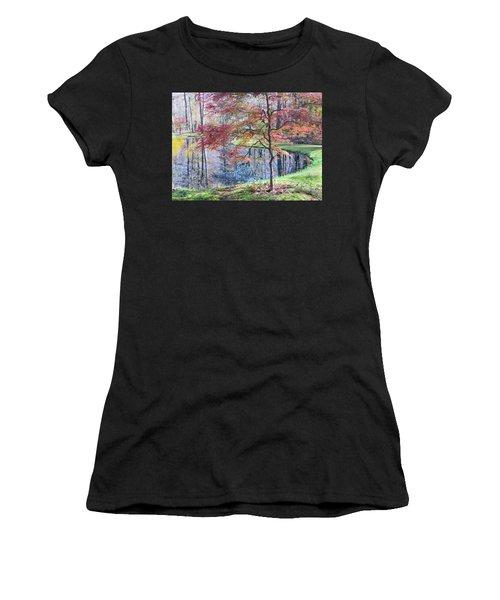 Multi Color Japanese Maple Women's T-Shirt