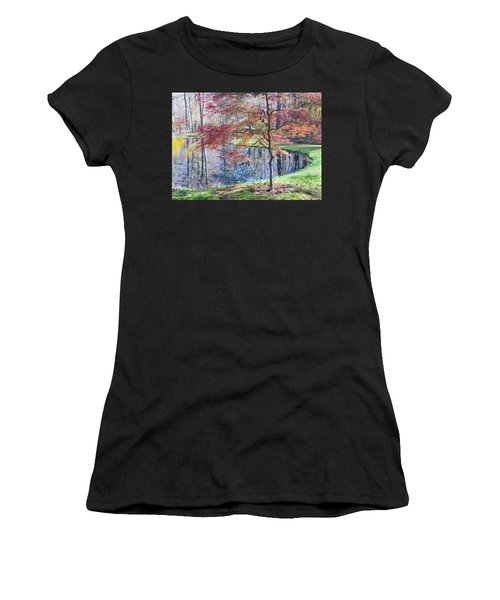 Multi Color Japanese Maple Women's T-Shirt