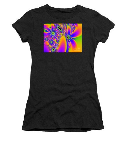 Multi-coloured Fractal Flowers Women's T-Shirt