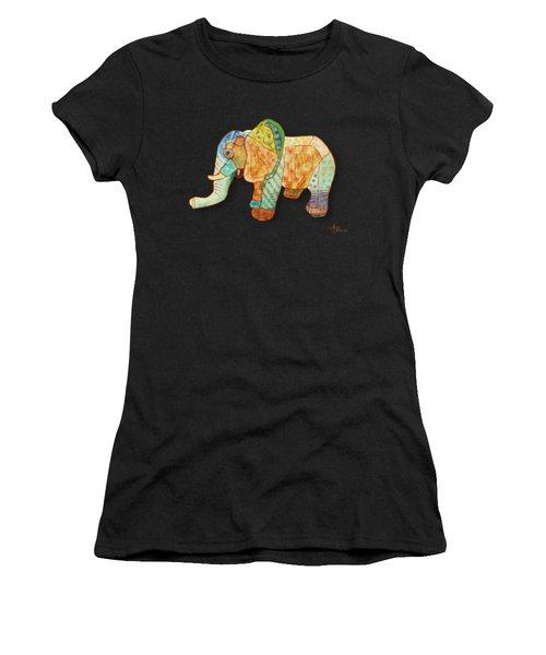 Multicolor Elephant Women's T-Shirt