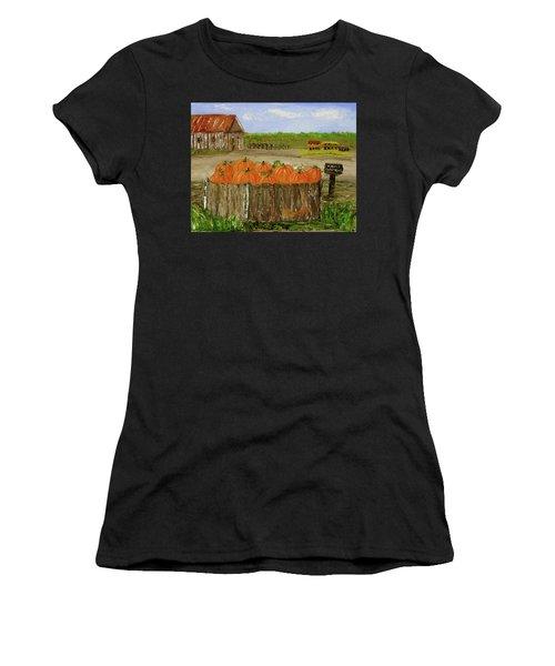 Mum And Pumpkin Harvest Women's T-Shirt (Junior Cut)