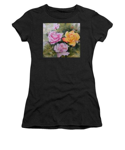 Mum's Roses Women's T-Shirt (Athletic Fit)