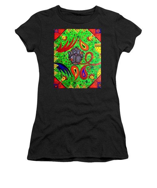 Mun Moji-hookah Monkey Women's T-Shirt (Athletic Fit)