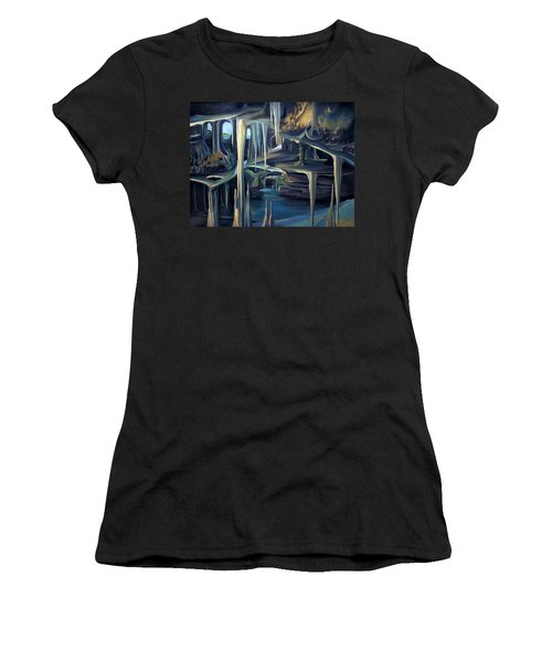 Mural Ice Monks In November Women's T-Shirt (Athletic Fit)