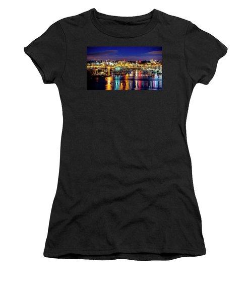 Murray Morgan Bridge View During Blue Hour In Hdr Women's T-Shirt