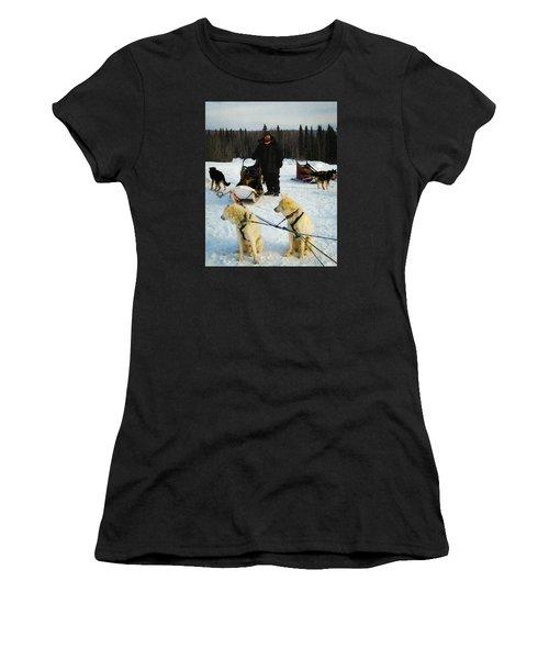 Musher Women's T-Shirt (Junior Cut) by Timothy Bulone
