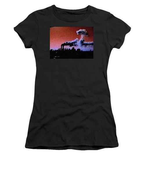 Mushroom Cloud From Flight 175 Women's T-Shirt (Athletic Fit)