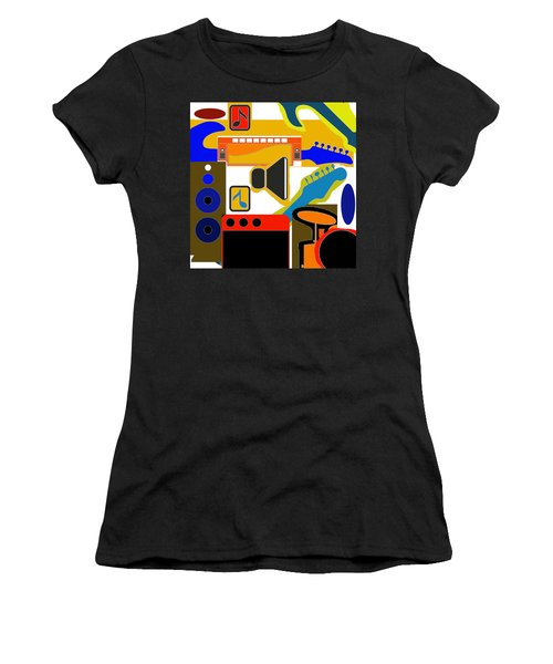 Music Collage Women's T-Shirt (Athletic Fit)