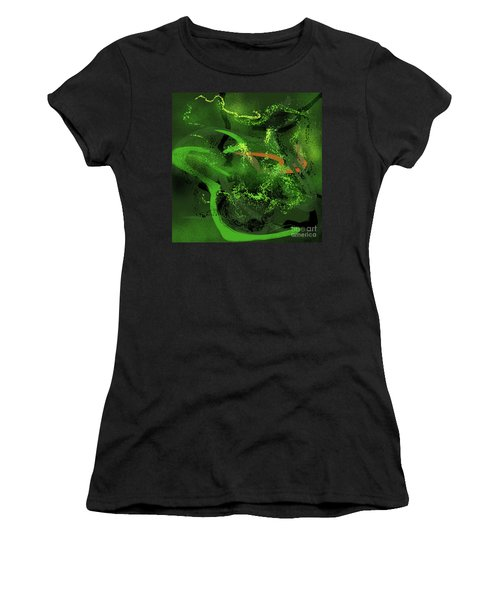 Music In Green Women's T-Shirt (Athletic Fit)