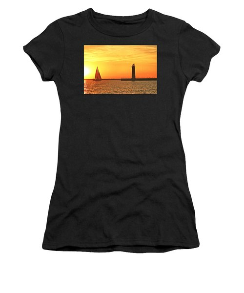 Muskegon Sunset Women's T-Shirt (Athletic Fit)