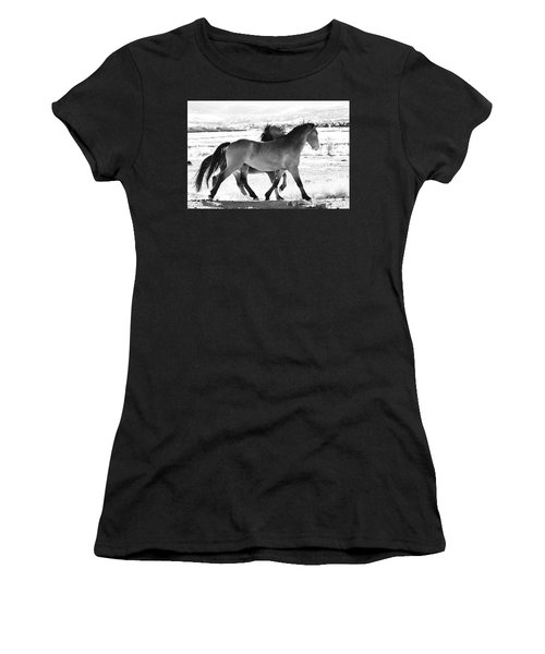 Mustangs Women's T-Shirt (Athletic Fit)