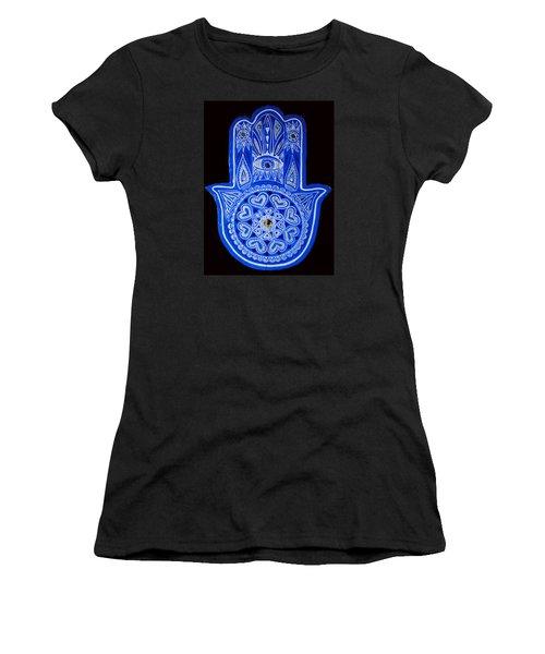 My Blue Hamsa Women's T-Shirt (Athletic Fit)