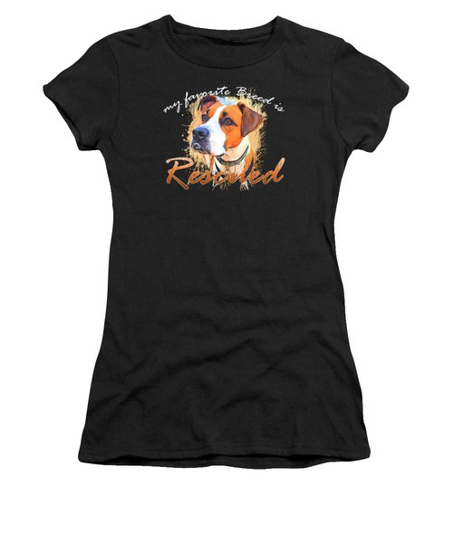 My Favorite Breed Is Rescued Watercolor 5 Women's T-Shirt