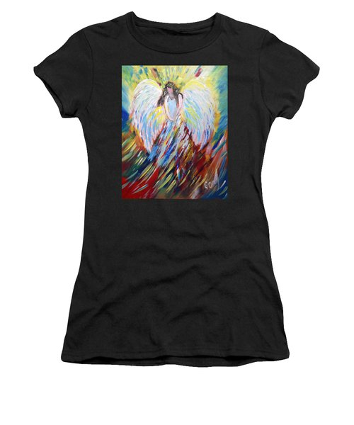 My Little Girl's Angel Women's T-Shirt (Athletic Fit)