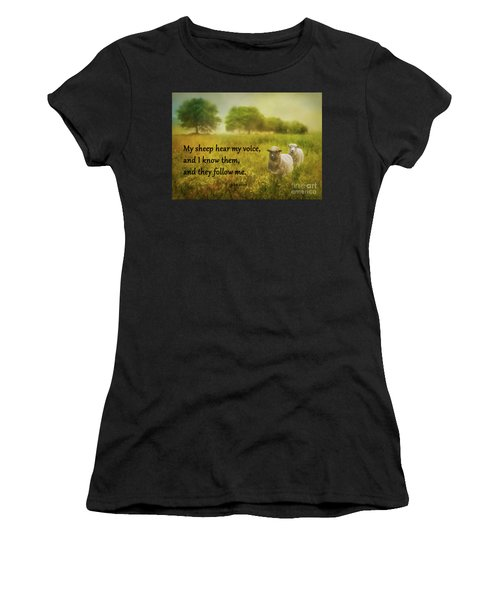 My Sheep Hear My Voice Women's T-Shirt (Athletic Fit)