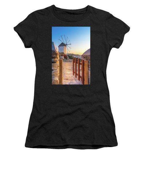 Mykonos, Greece Women's T-Shirt (Athletic Fit)