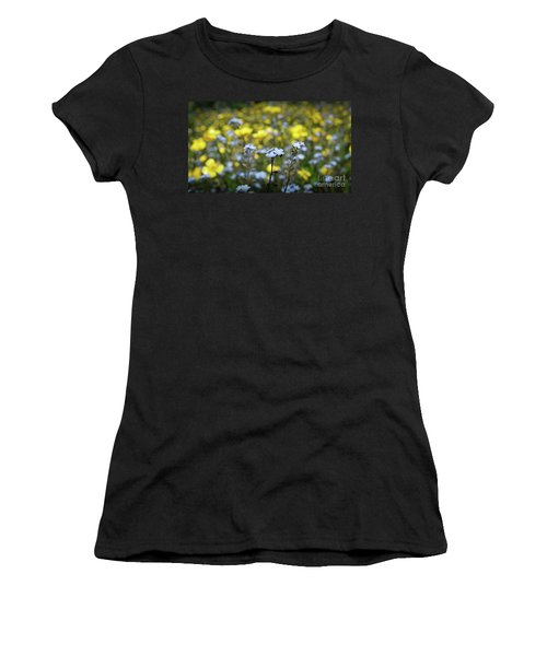 Myosotis With Yellow Flowers Women's T-Shirt (Athletic Fit)