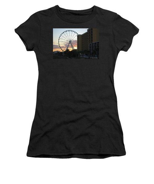 Myrtle Beach Sunset 2 Women's T-Shirt (Athletic Fit)