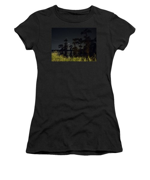 Mystique Of A Cajun Night Women's T-Shirt (Athletic Fit)