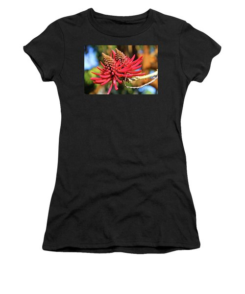 Naked Coral Tree Flower Women's T-Shirt (Athletic Fit)