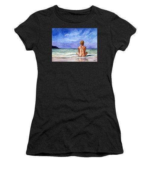 Naked Male Sleepy Ocean Women's T-Shirt