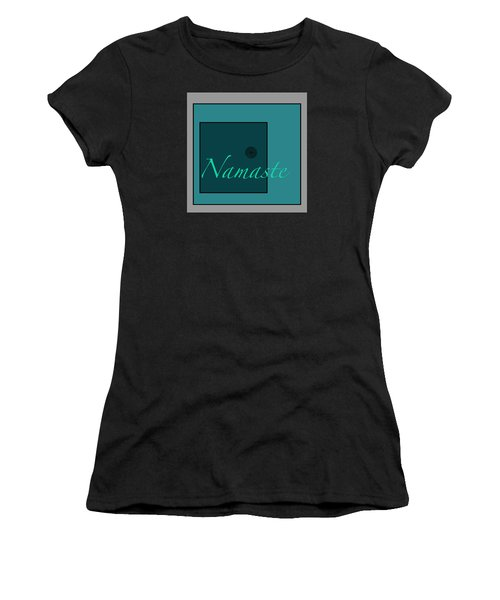 Namaste In Blue Women's T-Shirt (Athletic Fit)
