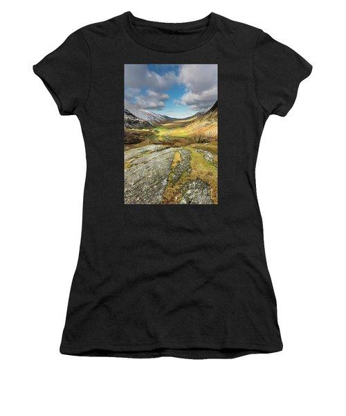 Nant Ffrancon Valley In Snowdonia Women's T-Shirt