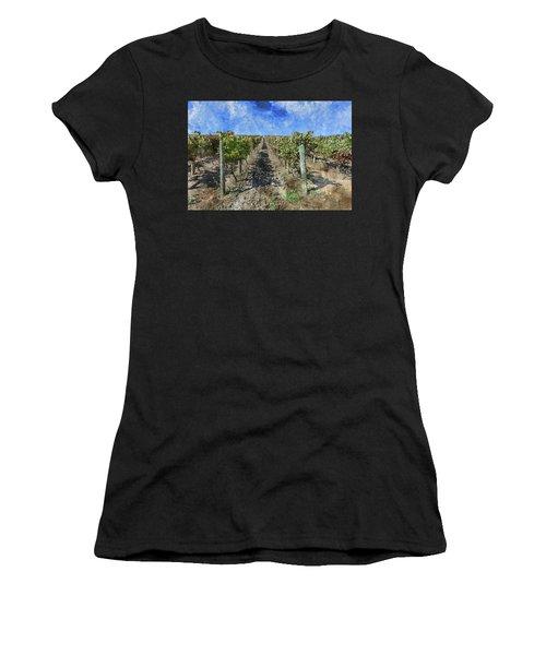 Napa Valley Vineyard - Rows Of Grapes Women's T-Shirt