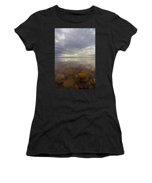 Napeague Bay Red Rocks Women's T-Shirt (Athletic Fit)