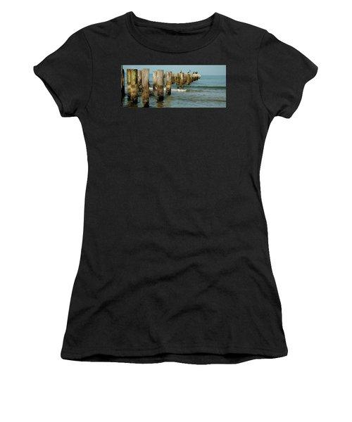 Naples Pier And Pelicans Women's T-Shirt (Athletic Fit)