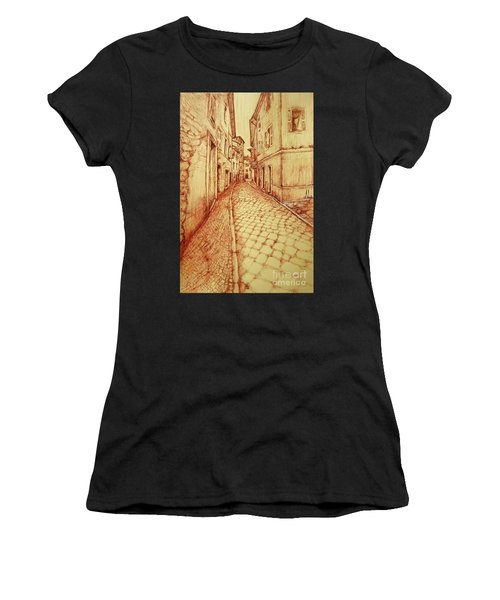 Narrow Street Of Lovere Italy Women's T-Shirt (Athletic Fit)