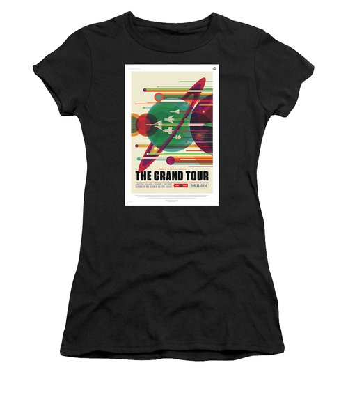 Nasa The Grand Tour Poster Art Visions Of The Future Women's T-Shirt