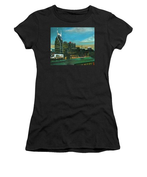 Nashville At Dusk Women's T-Shirt (Athletic Fit)