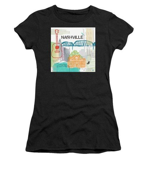 Nashville Cityscape- Art By Linda Woods Women's T-Shirt