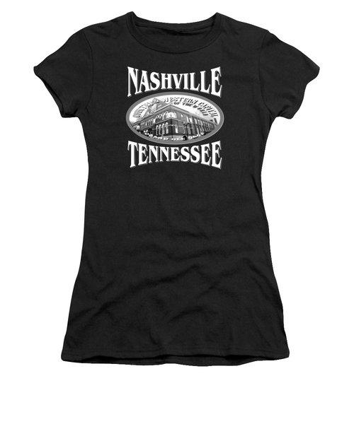 Nashville Tennessee Design Women's T-Shirt (Athletic Fit)