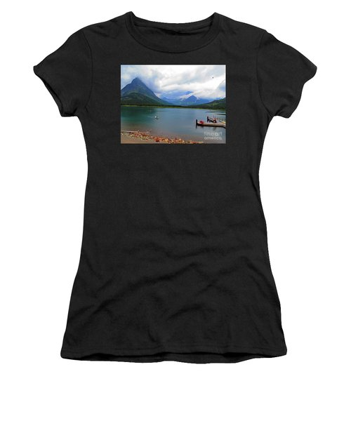 National Parks. Serenity Of Mcdonald Women's T-Shirt (Athletic Fit)