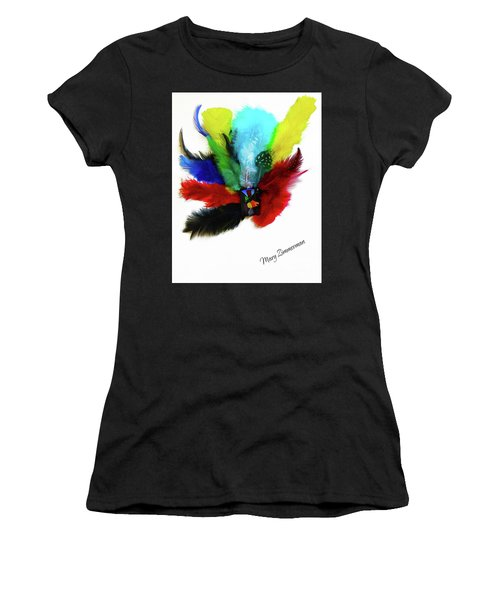 Native American Tribal Feathers Women's T-Shirt (Athletic Fit)