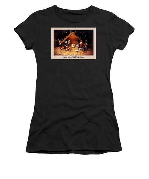 Nativity Scene Greeting Card Women's T-Shirt
