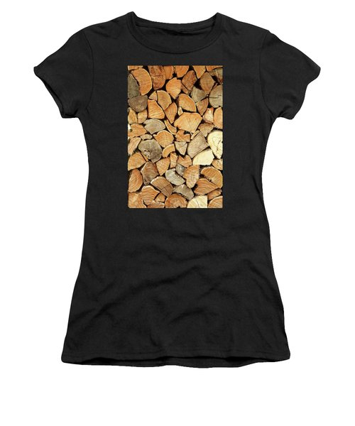 Natural Wood Women's T-Shirt (Athletic Fit)