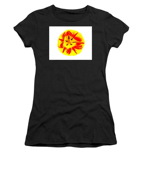 Women's T-Shirt (Athletic Fit) featuring the photograph Nature The Abstract Painter by Roger Bester