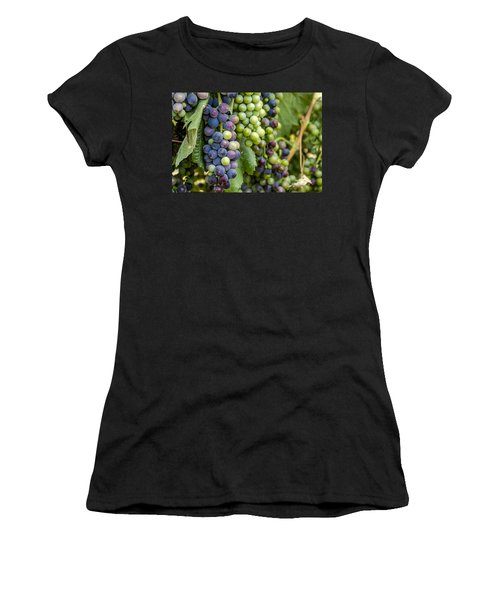Natures Colors In Wine Grapes Women's T-Shirt
